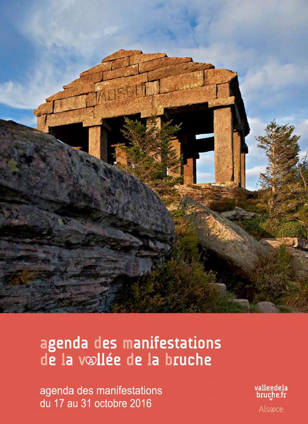 2016 10 18 agenda des manifestations vallee de la bruche